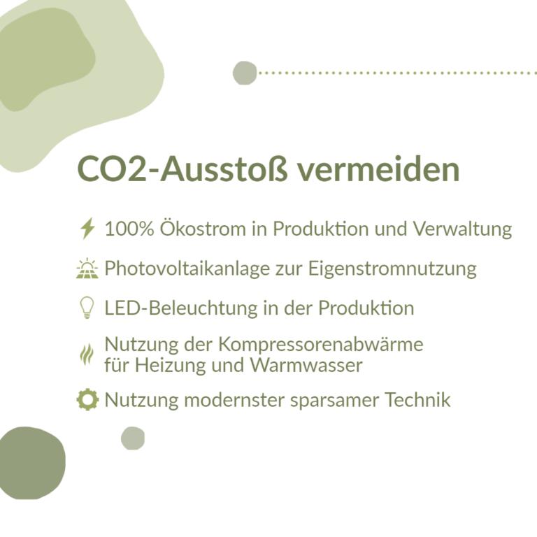 CO2-Ausstoß vermeiden