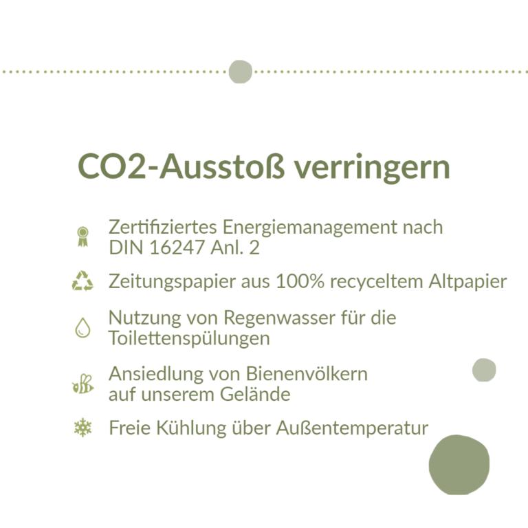 CO2-Ausstoß verringern