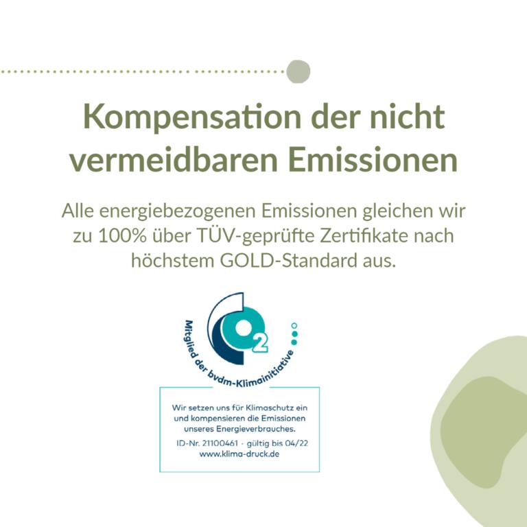 Kompensation nicht vermeidbarer Emissionen